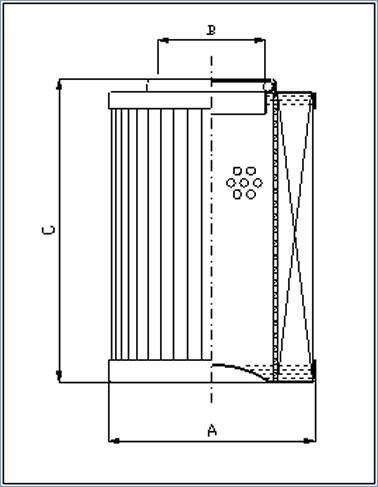 隆齐过滤互换PI21025DN马勒滤芯尺寸图
